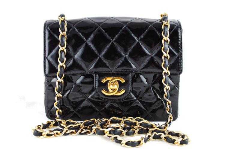 chanel-black-patent-classic-quilted-mini-2.55-flap-bag--