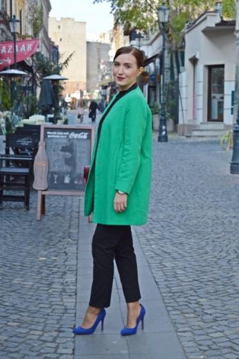 ZARA coat, Bershka stilletos